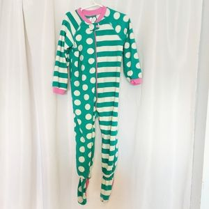 Place Girl's Footed One Piece Pajamas Size 4T